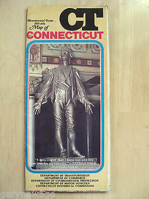 1976 CONNECTICUT  /  GAS STATION / HIGHWAY ROAD MAP