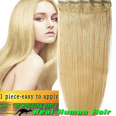Good Luck Real Human Hair Extensions Clip In One Piece Amazing Wefted Tightly AX