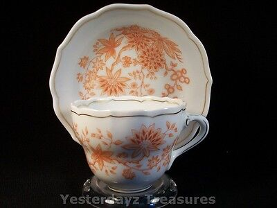 A Fabulous Teacup and Saucer by Hutschenreuther Selb, Germany. Wildflowers