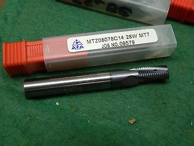 SCT Solid Carbide Coolant Through TiAlN 3-Flute Thread Mill 28W MT7