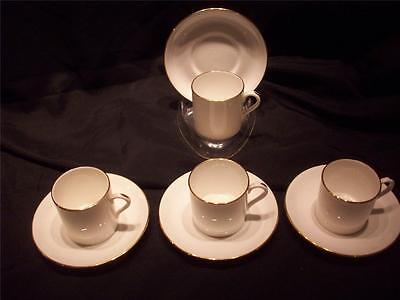 Vintage Hammersley Bone China (4) Demitasse Cup and Saucer Sets Made in England
