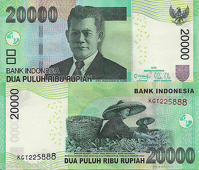 INDONESIA 20000 Rupiah Banknote World Paper Money UNC Currency Pick p151c Note