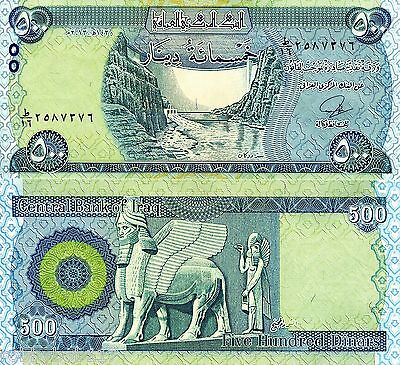 IRAQ 500 Dinar Banknote World Paper Money UNC Currency BILL p98 Note Post Saddam