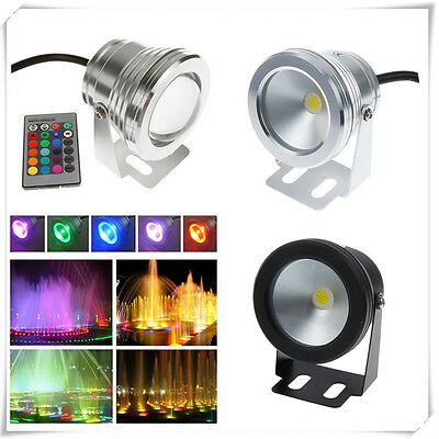 10W 12V RGB Warm/Cool LED Underwater Spot Light IP68 Waterproof Aquarium Lamp