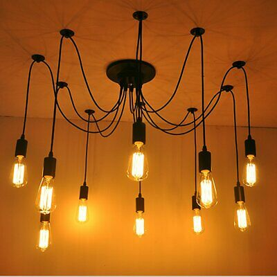 Vintage Edison Industrial Style Pendant Lamps Ceiling Chandelier Lights Light