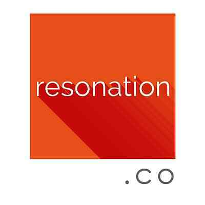 Premium One Word .CO Domain Name - RESONATION.co. No Reserve.