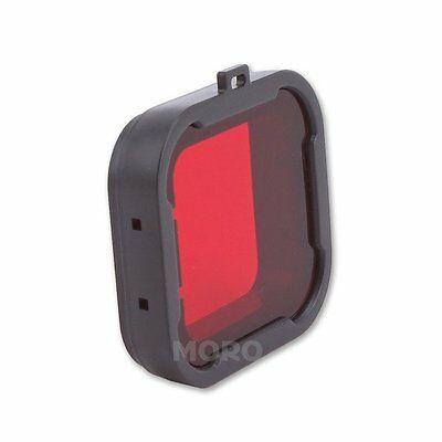 Snap On Dive Red Filter For GoPro Hero HD 4 3+ Lens Color Correction Accessories