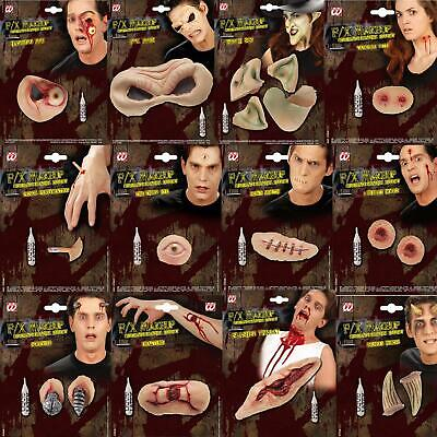 Halloween Horror 3D Make-Up FX Latex Kostüm Wunden Sideburns Scars Auge Sockel