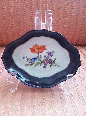 MEISSEN DISH WITH STAND BEAUTIFUL FLORAL PATTERN -VERY RARE NUMBERED EDITION