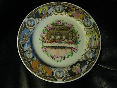 """Last Supper Plate with Pink Roses 10"""""""