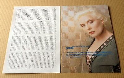 2003 Debbie Harry Blondie 2pg 1 photo JAPAN mag article / press clipping 10r