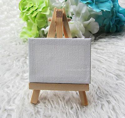 10 sets Mini Display Easel With Canvas Wedding Table Numbers Painting Hobby