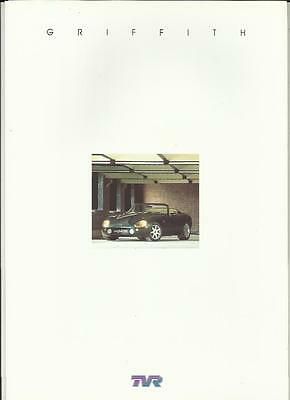 TVR GRIFFITH 500 SALES BROCHURE LATE 90's