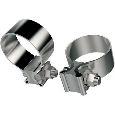 Khrome Werks Stainless Steel Muffler Clamps for Harley OEM# 65296-95A
