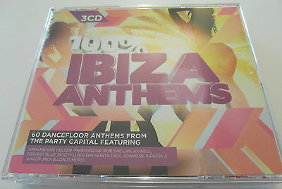 100% Ibiza Anthems / Various Artists (3 x CD Album 2011) Used Very Good