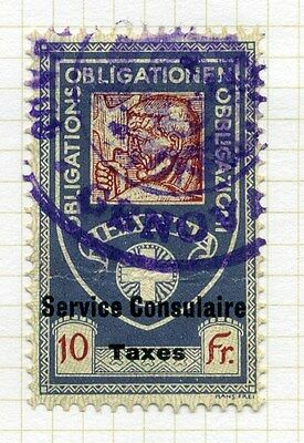 SWITZERLAND;     Federal issue 1915 Consular Service Stamp fine used 10Fr.