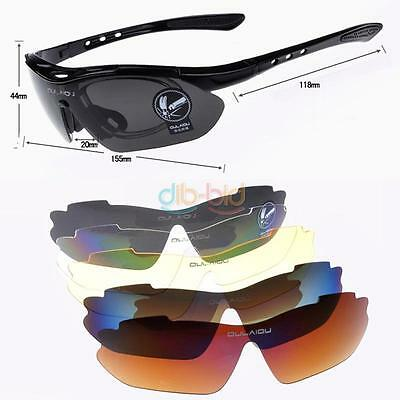 Vogue Cycling Riding Bicycle Sun Glasses 5 Lens Sports Sunglasses Goggles UK HY