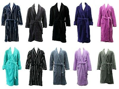Men's Women's Supersoft Luxurious Coral Fleece Bath Robe Bathrobe Dressing Gown