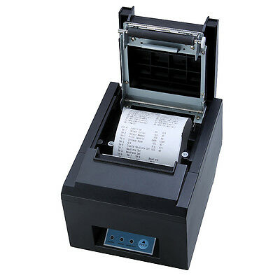 80mm POS Thermal Receipt Printer USB/Ethernet 300mm/s High Speed Auto Cutter