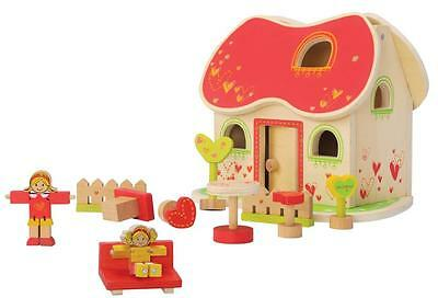 NEW Wooden Fairytale Doll House inc Furniture and Dolls