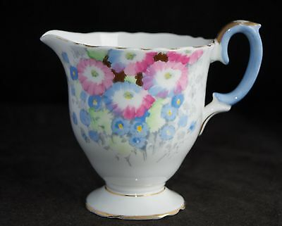 Lovely Vintage Crown Staffordshire  Hand Painted Creamer/Milk Jug #A5595