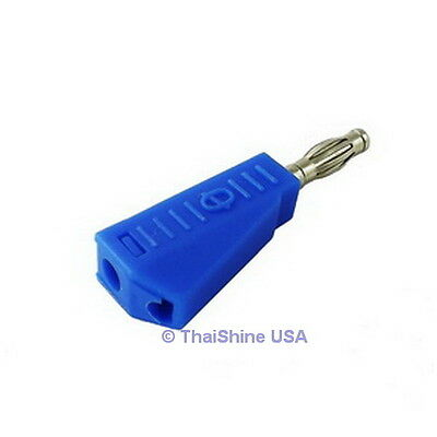 4 x 4mm Stackable Type Banana Plug Blue - USA Seller - Free Shipping