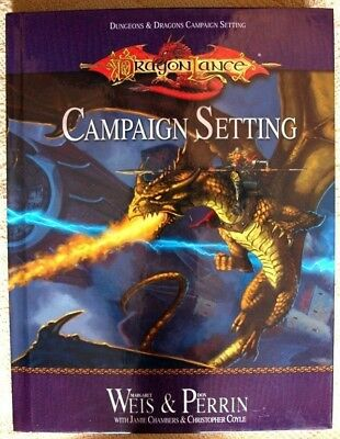 Dungons & Dragons Campaign Setting DragonLance Book NEW
