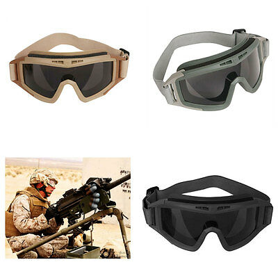 Military Tactical SWAT Hunting Airsoft Motorcycle Paintball Desert Army Goggles