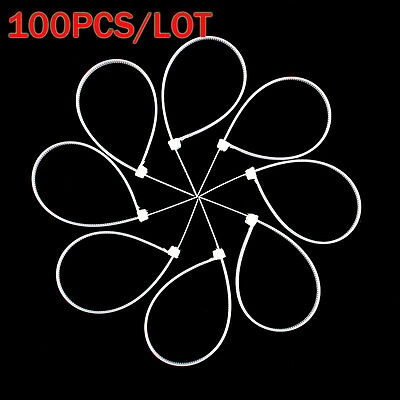 Hot Sale 3x200mm 150mm 100mm Network Nylon Plastic Cable Wire Zip Tie Cord Strap