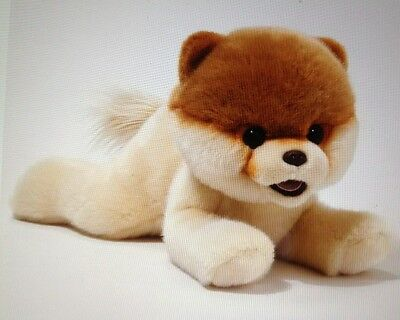 """GUND Boo The Worlds Cutest Dog Laying Down 14"""" Plush Toy  BRAND NEW w/ TAGS"""
