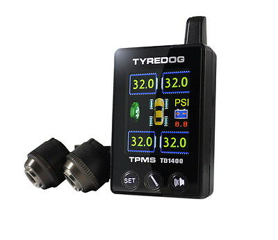 NEW TPMS TD1400A-X Tyredog Tyre Tire Pressure Wireless Monitoring System 4 Wheel