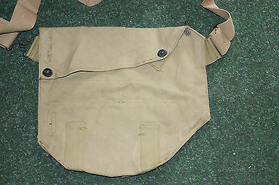 Us Army Issue Gas Mask Case Bag Webbing Wwii Vtg Cover U.s Army Military Bag