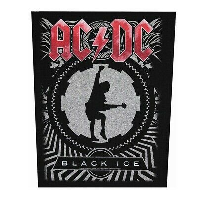 XLG AC/DC Black Ice Rock Music Woven Back Jacket Patch Applique