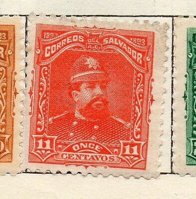 El Salvador 1893 Early Issue Fine Mint Hinged 11c. 143186