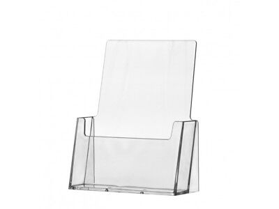 """Literature Holder 6"""" Catalog Counter Pamphlet Display Clear Acrylic Literature"""