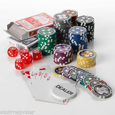 500pcs Poker Chip Set, 15G, 7 colours Low Values 1/5/25/50/100/500/1000