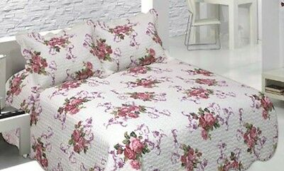 Luxury Quilted Bedspread/Coverlet Throw Blanket  3pcs Set 250x260cmST14223