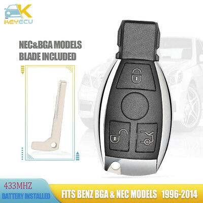 Keyless Entry Smart Remote Key 3 Button 433MHz NEC Chip for Mercedes-Benz 2000+