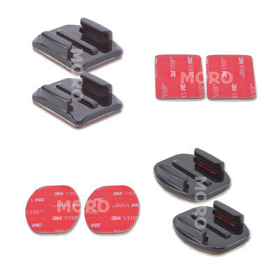 4 pcs Flat Curved Adhesive Mount Helmet Accessories For Gopro Hero 7/2/3 /3+/6/5