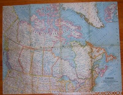 National Geographic MAP of CANADA December 1961