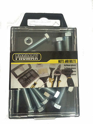 72 Nuts and Bolts Sets Assorted Sizes & Caddy Hardware Bulk Wholesale Lot