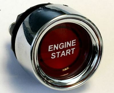 Illuminated Starter Push Botton Switch Engine Start RED