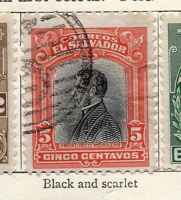 El Salvador 1912 Early Issue Fine Used 5c. 143388