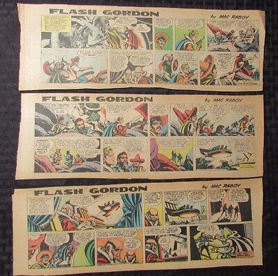 1967 FLASH GORDON Color Newspaper Strips by Mac Raboy LOT of 8 VG+ 11/12 - 12/31