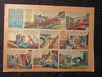 1954 FLASH GORDON Color Newspaper Strips by Mac Raboy LOT of 9 VG 10/24 - 12/26