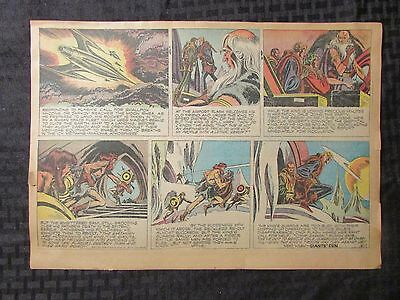 1952 FLASH GORDON Color Newspaper Strips by Mac Raboy LOT of 7 VG 3/30 - 6/1
