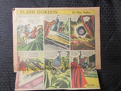 1954 FLASH GORDON Color Newspaper Strips by Mac Raboy LOT of 6 VG 5/23 - 6/27