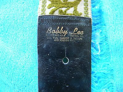 Vintage Bobby Lee Guitar Strap Made In The Usa Very Cool Scupltured Woven Design