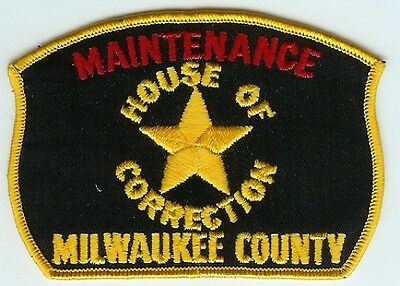 MILWAUKEE COUNTY WISCONSIN HOUSE OF CORRECTION MAINTENANCE PATCH