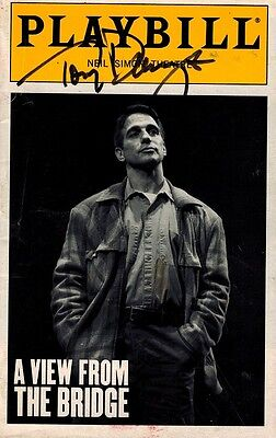 View From The Bridge Signed Playbill  - Tony Danza